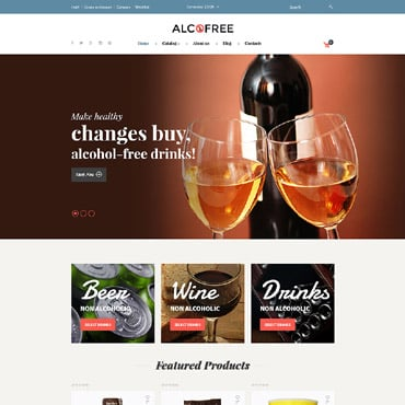 Preview image of Food & Drink VirtueMart Template No. 62142