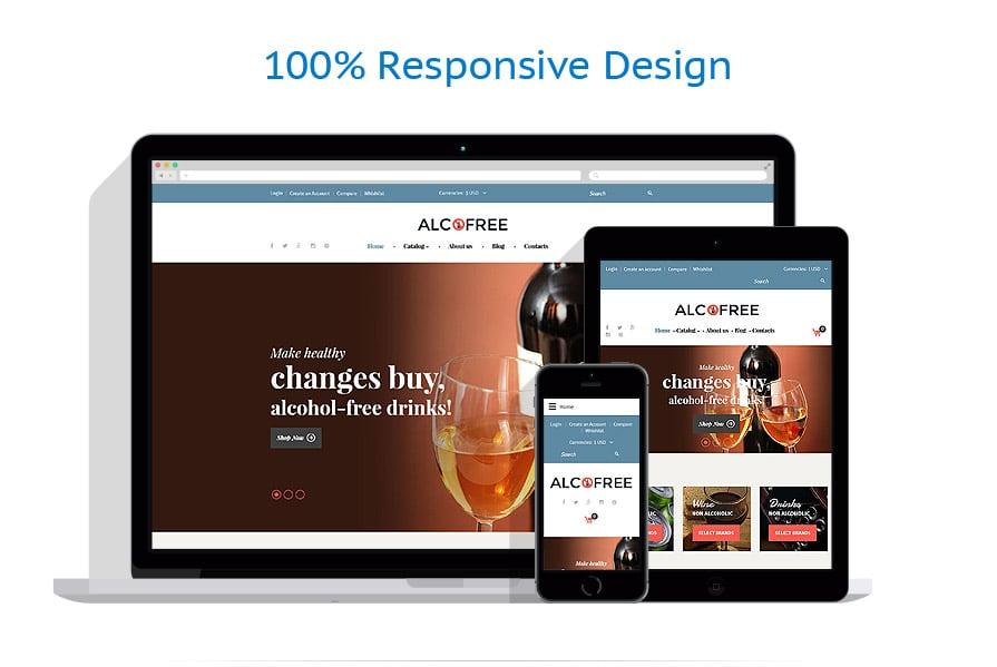 Шаблона интернет магазина безалкогольных напитков - Alco Free