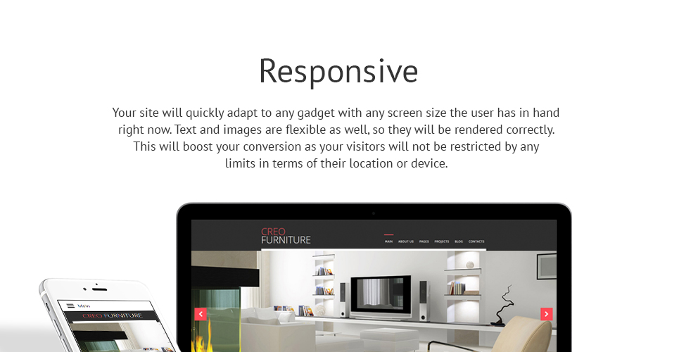 CreoFurniture - Exclusive Furniture Responsive Joomla Template
