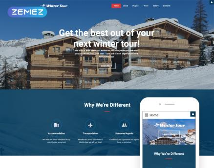 Winter Tour - Travel Agency Responsive Joomla Template
