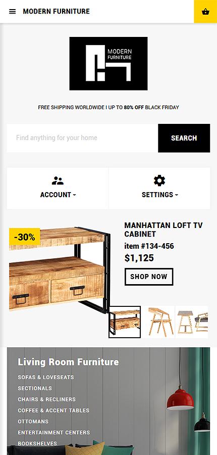 Plantilla opencart de muebles y dise o de interiores for Diseno de interiores online