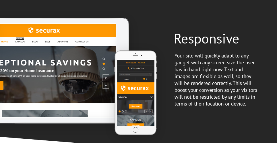 Security Systems  Responsive Shopify  Theme