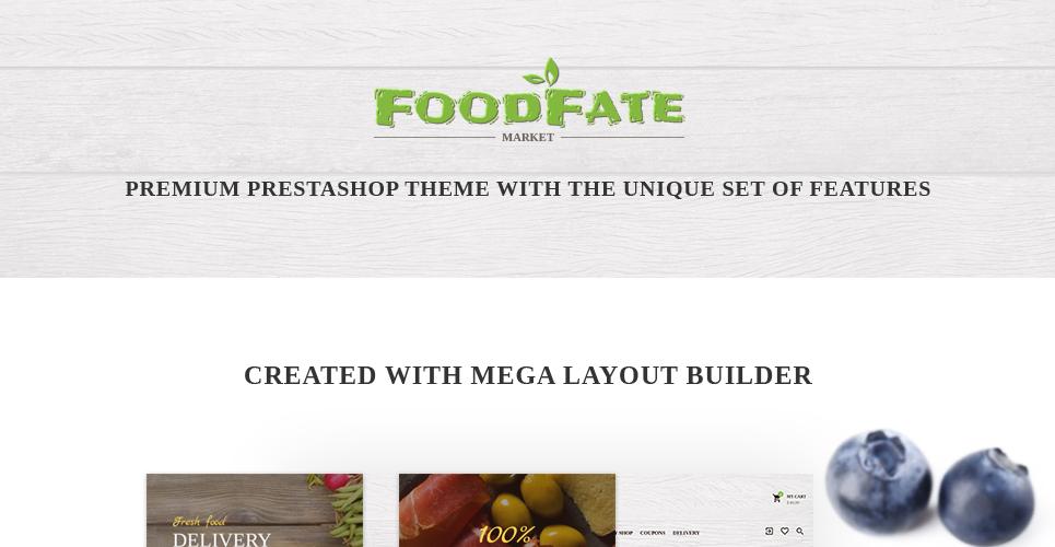 FoodFate - Food Store PrestaShop Theme