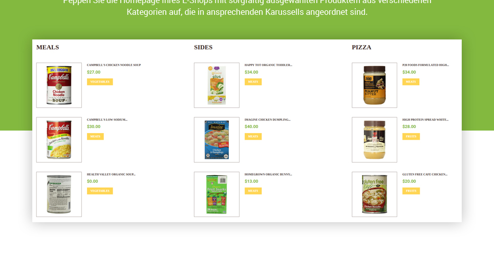 Website Design Template 62186 - fruits