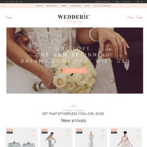 Screenshot of Wedderic Wedding Store