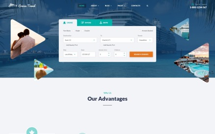 Cruise Travel - Travel Agency Multipage Website Template