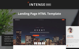 Intense - Event Planner HTML5 Landing Page Template