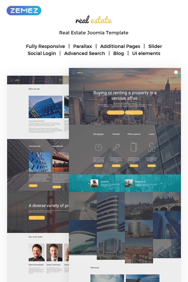 Адаптивный Joomla шаблон №62160 на тему недвижимость - скриншот
