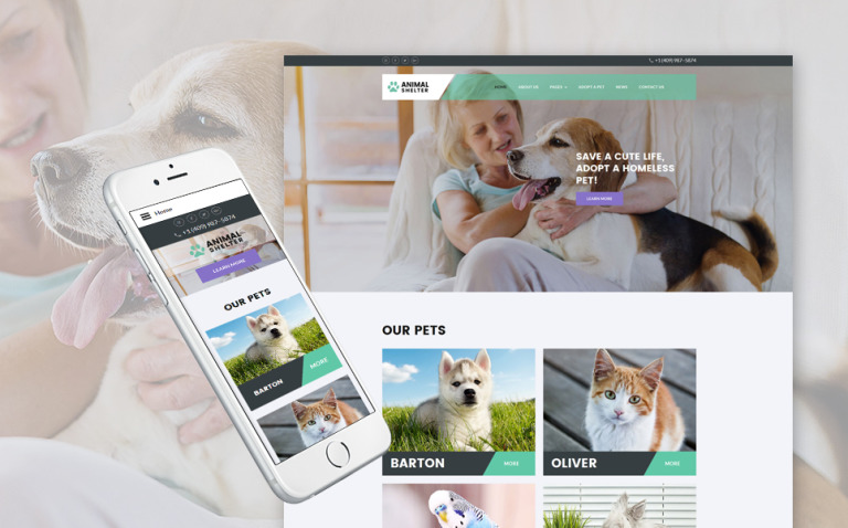 Animal Shelter Joomla Template New Screenshots BIG