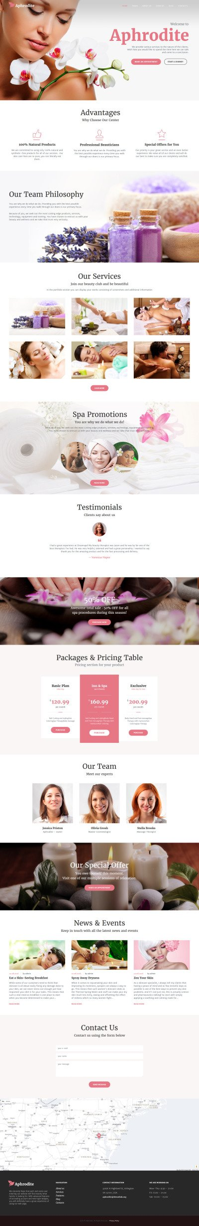 Aphrodite - Beauty & SPA Salon Responsive