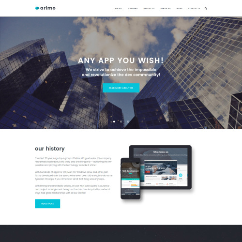 Arimo  - Responsive WordPress Template