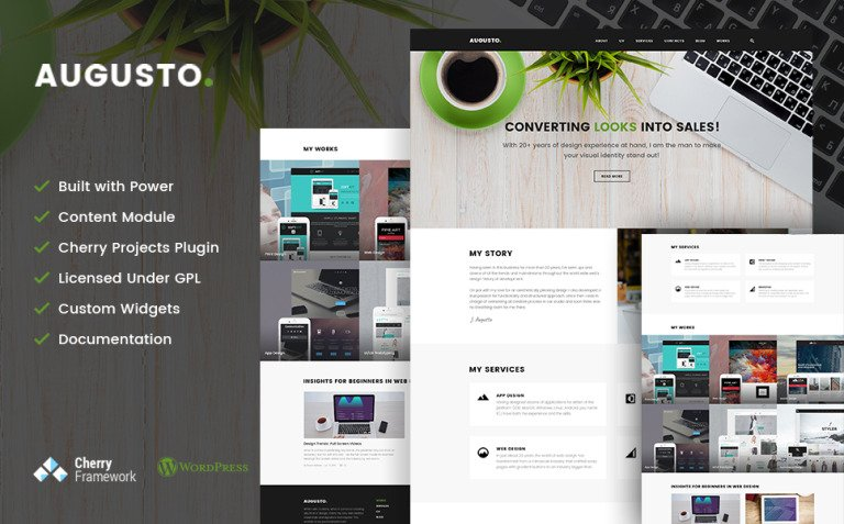 Augusto - Freelance Designer & Web Design WordPress Theme New Screenshots BIG
