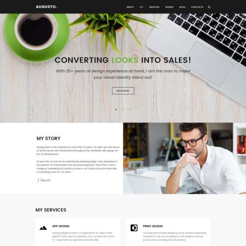 Augusto  - Responsive WordPress Template