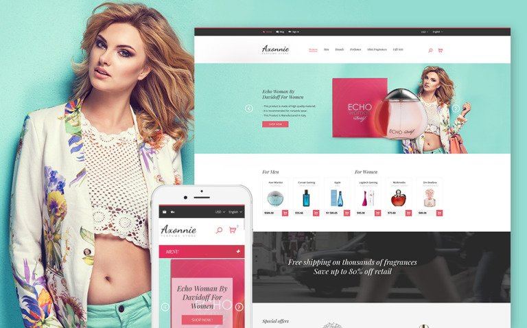 Axonnie - Perfume Store PrestaShop Theme New Screenshots BIG
