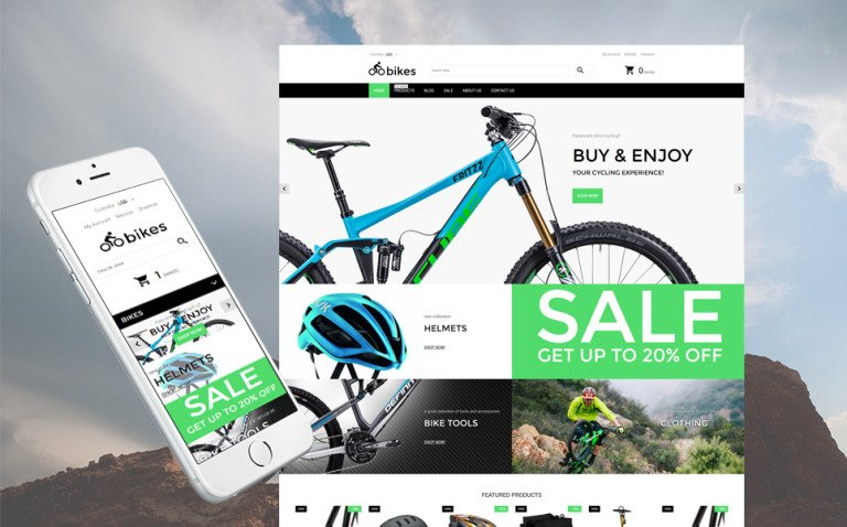 Bike Shop Responsive Shopify Theme New Screenshots BIG