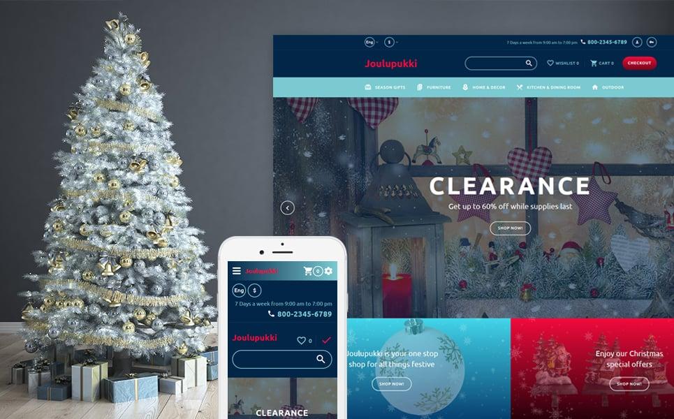 Opencart шаблон для магазина новогодних подарков