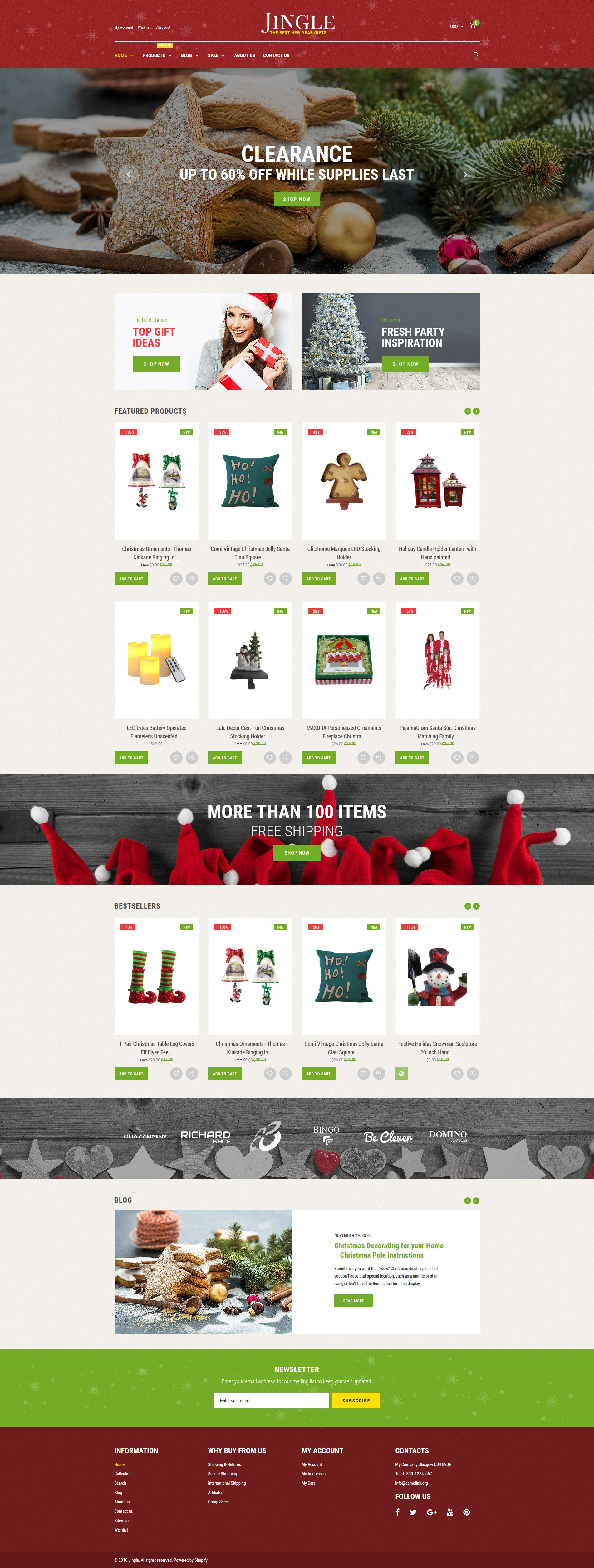 Christmas Responsive Shopify Theme - screenshot