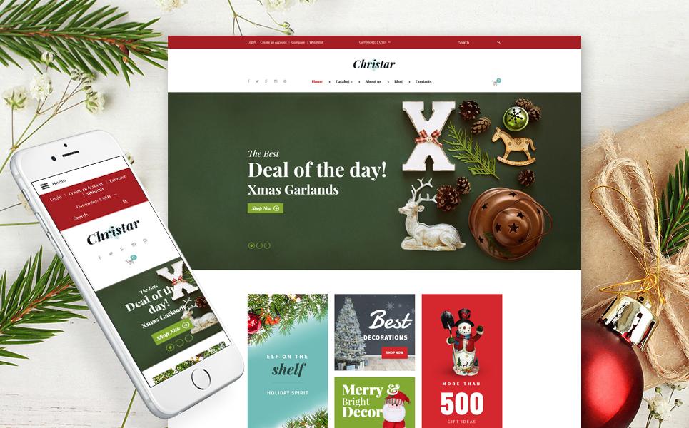 Virtuemart шаблон для магазина новогодних подарков