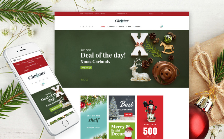 Christmas Responsive VirtueMart Template New Screenshots BIG
