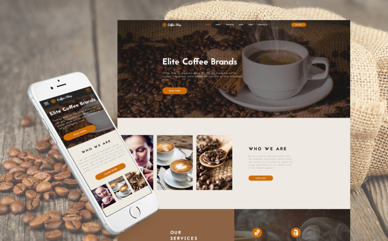 Coffee Shop Multipage Website Template New Screenshots BIG