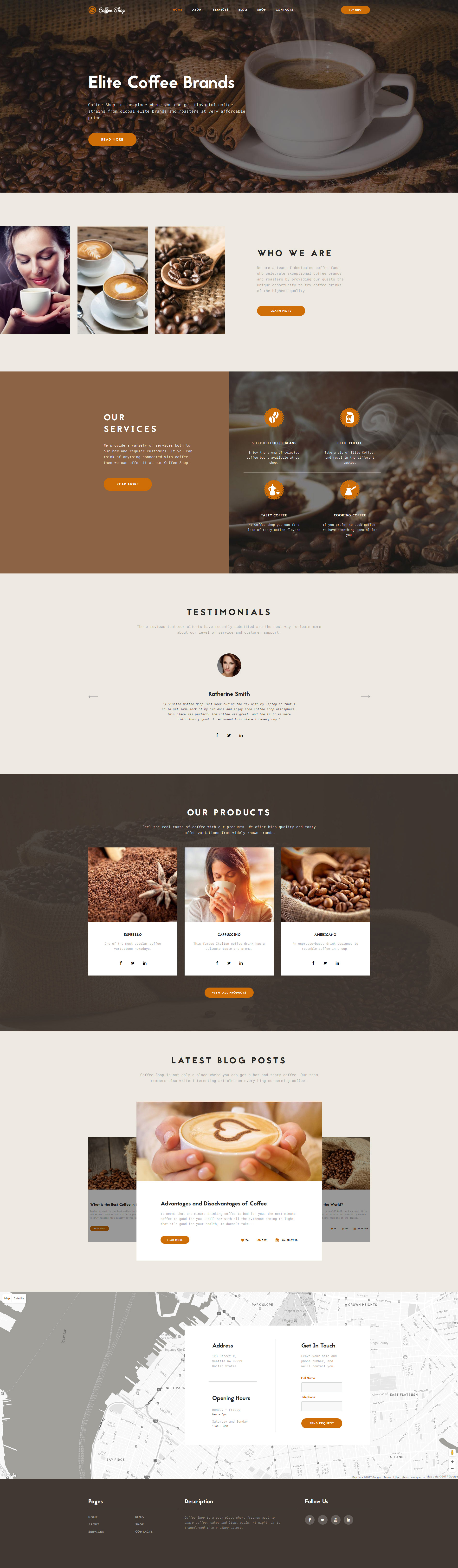 coffee shop website template. Black Bedroom Furniture Sets. Home Design Ideas