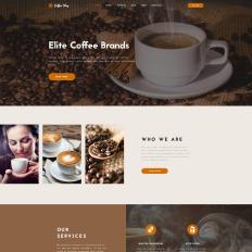 Coffee shop joomla template #40674.