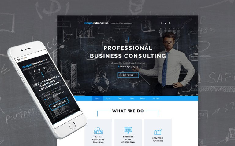 CorpoRational Inc - Business Consulting Joomla Template New Screenshots BIG
