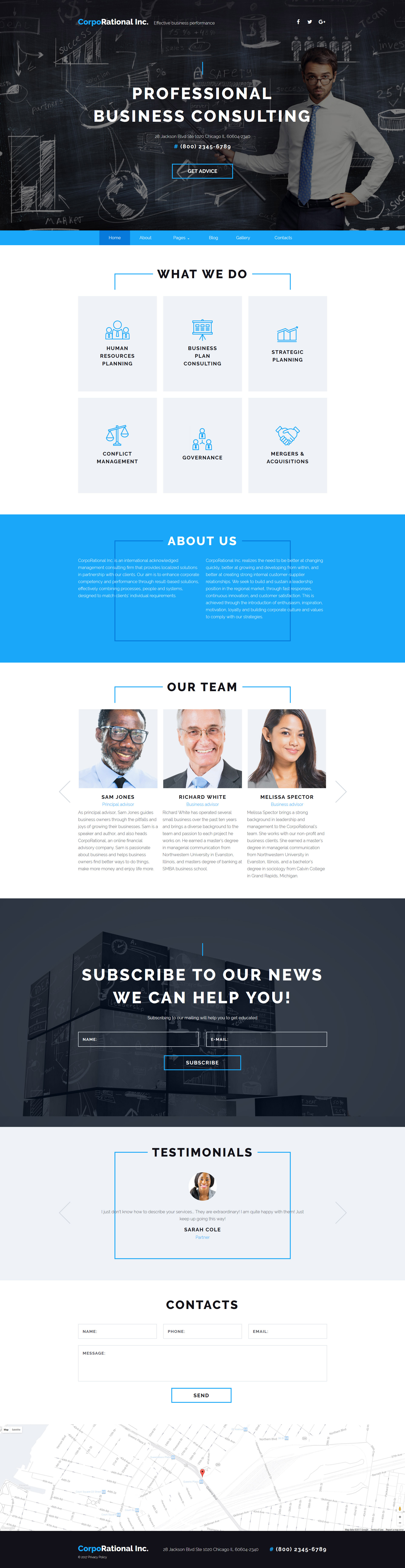 CorpoRational Inc - Business Consulting Template Joomla №62157