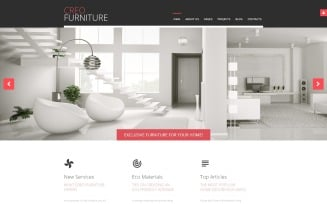 Creo Furniture - Furniture Multipage Creative Joomla Template