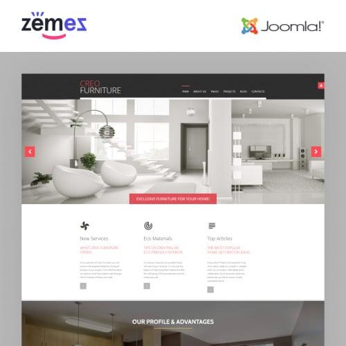 Creofurniture  - Joomla! Template based on Bootstrap