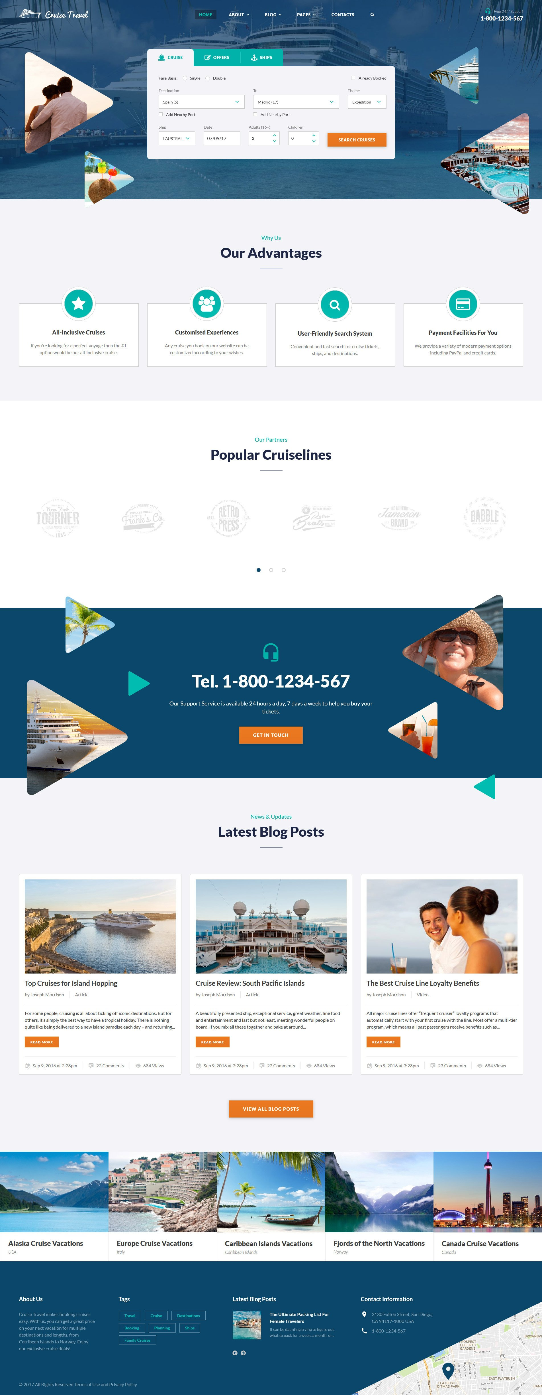Cruise Travel - Travel Agency Multipage Screenshot
