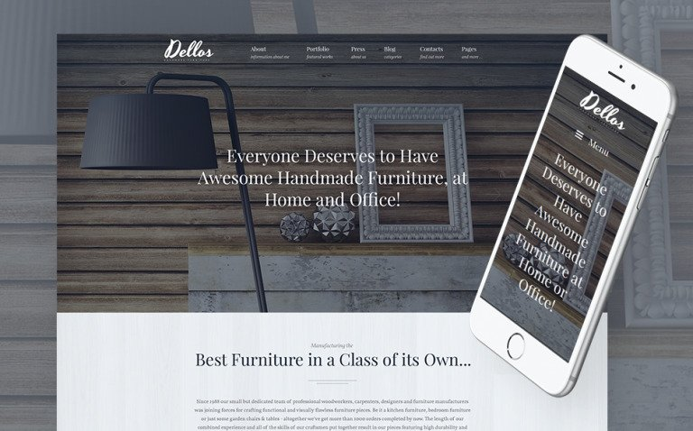 Dellos - Handmade Furniture & Interior Responsive WordPress Theme New Screenshots BIG