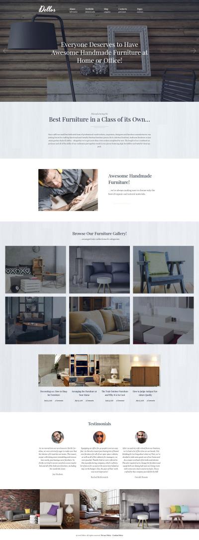 Dellos - Handmade Furniture & Interior Responsive