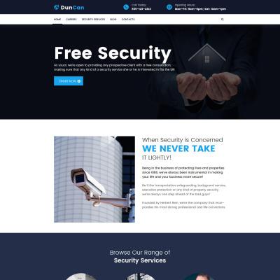 Security Service WordPress Theme