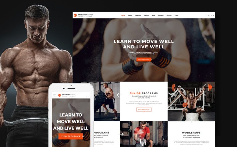 Edward Newman - Crossfit Trainer Multipage Website Template New Screenshots BIG