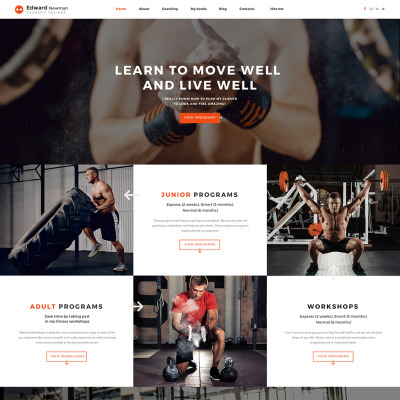 30 best fitness website templates