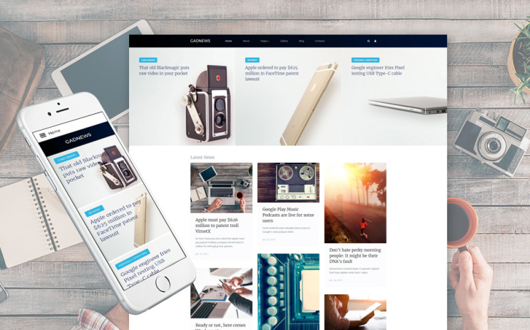 Electronics Review Responsive Joomla Template New Screenshots BIG