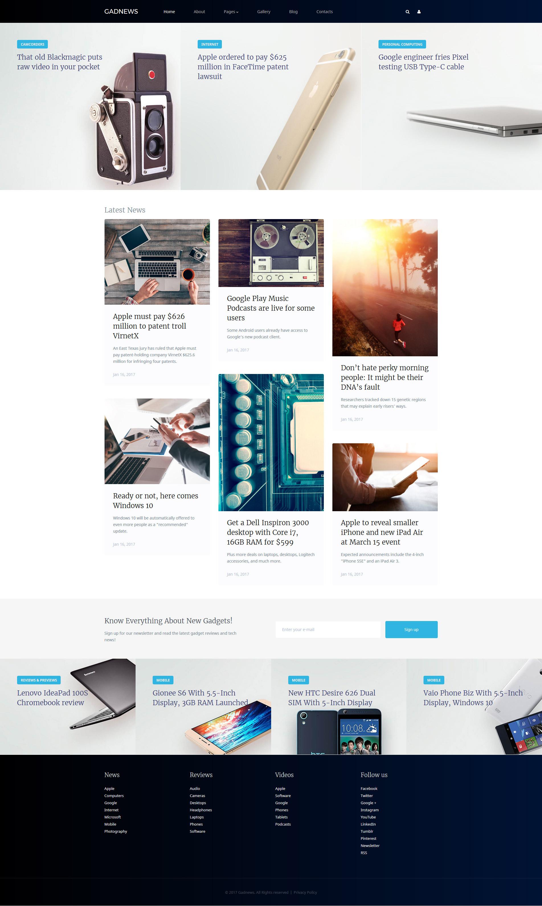 Electronics Review Responsive Joomla Template