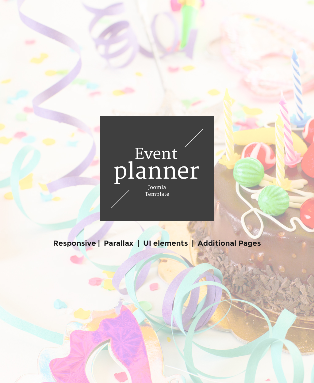 Event Planner Responsive Joomla Template - screenshot