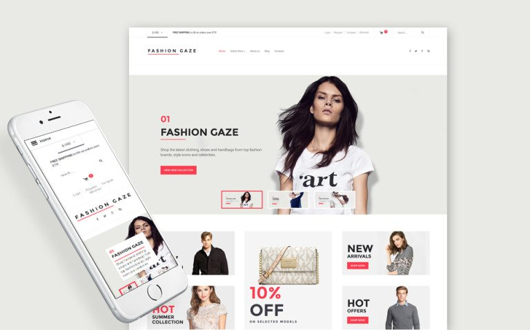 Fashion Store Responsive VirtueMart Template New Screenshots BIG