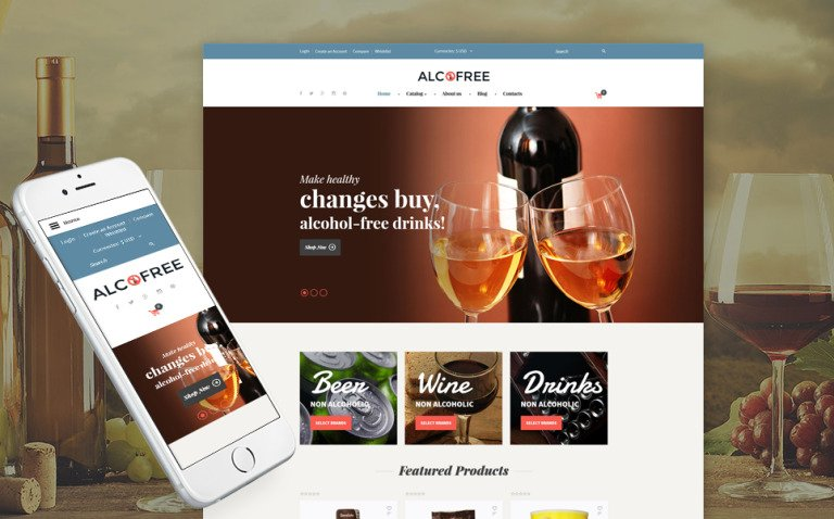 Food & Drink Responsive VirtueMart Template New Screenshots BIG