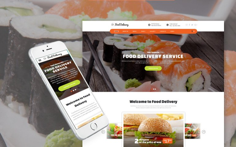 Food Ordering Service Website Template New Screenshots BIG