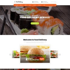 Fast food restaurant website templates templatemonster food ordering service pronofoot35fo Images