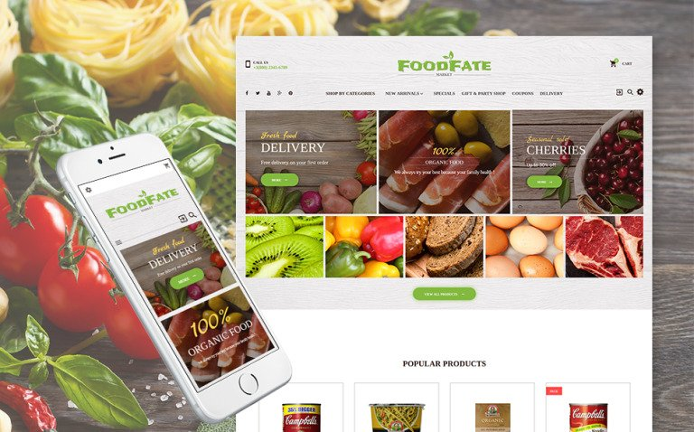 FoodFate - Food Store PrestaShop Theme New Screenshots BIG