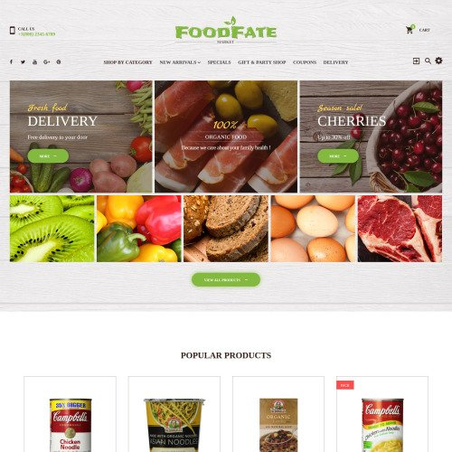 Foodfate  - PrestaShop Template based on Bootstrap