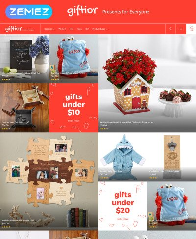 Giftior - Gifts Store Magento Theme #62106
