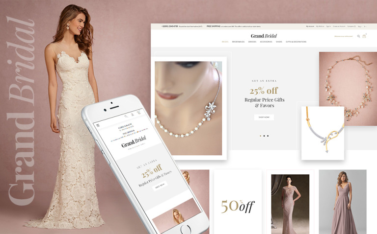 Grand Bridal Magento Theme New Screenshots BIG