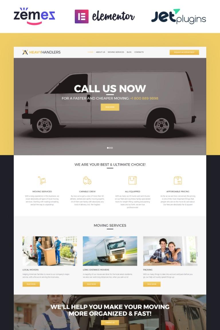Heavy Handlers - Transportation & Moving Company WordPress Theme New Screenshots BIG