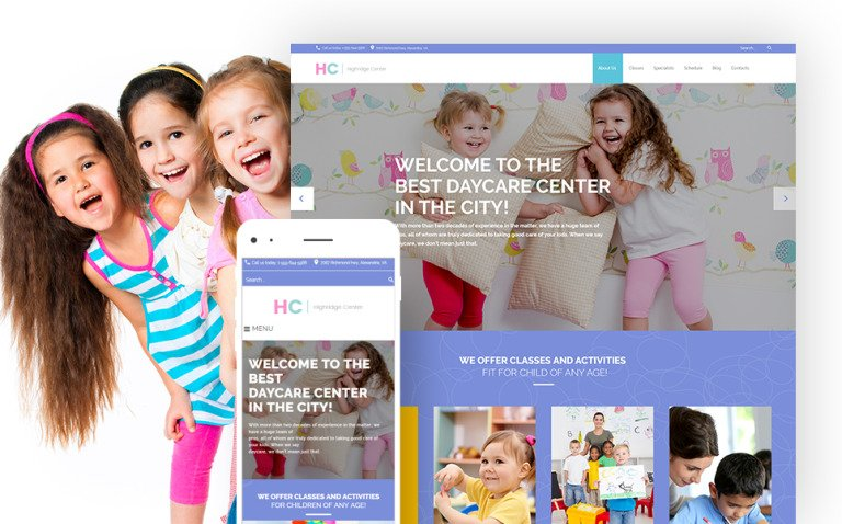 Highridge Center - Kindergarten & Child Care WordPress Theme New Screenshots BIG