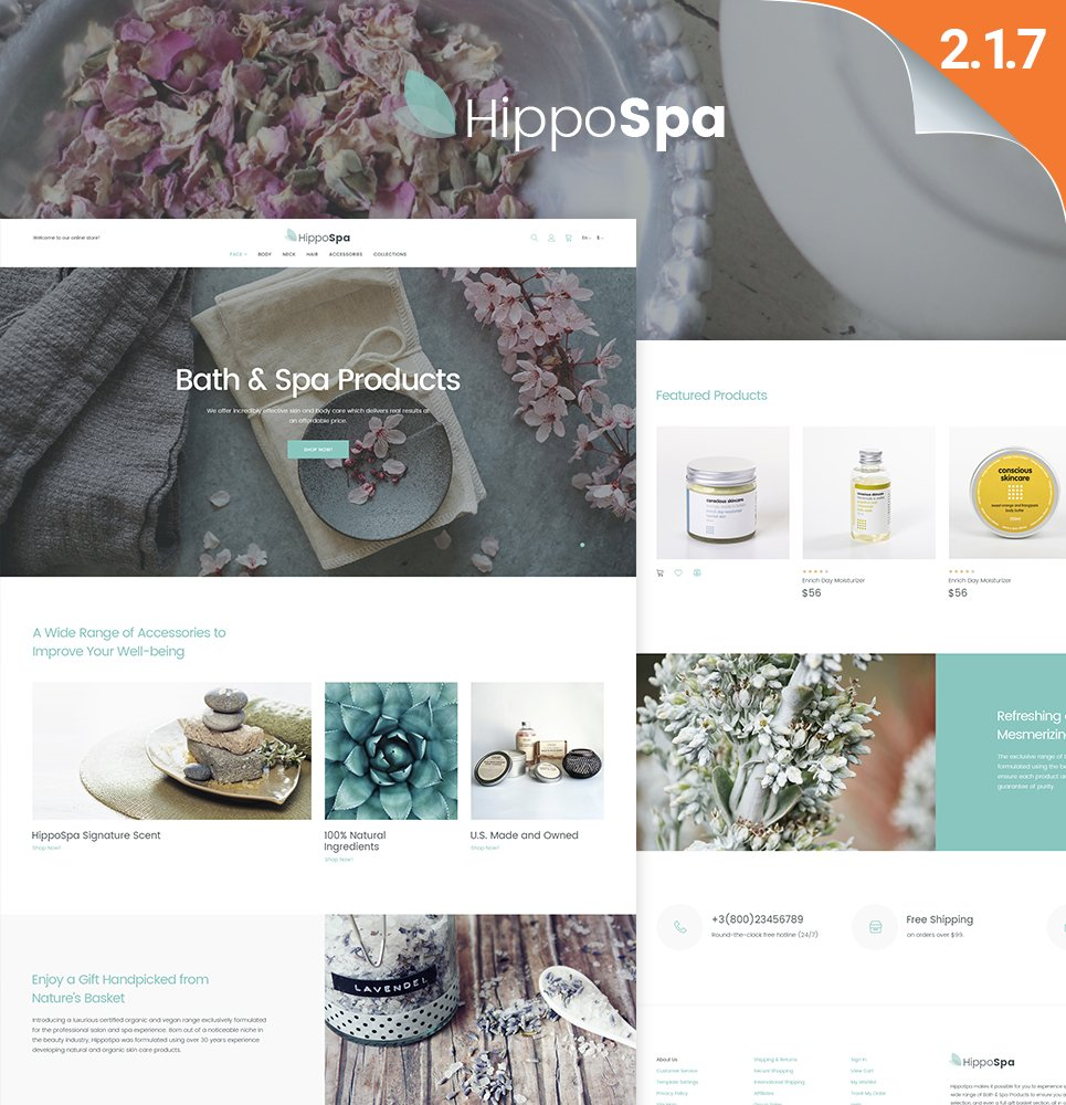 HippoSpa - SPA Store Magento Theme